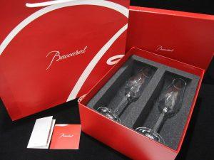 ◆山梨県より 未使用・共箱・袋付き 【バカラ クリスタル シャンパン グラス ペア / Baccarat 2脚 】を宅配買取りいたしました。