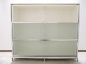 ◇東京都港区より 希少 B&B ITALIA/イタリア DOMUS システムキャビネット  アントニオ・チッテリオ ガラススライド 収納 出張買取いたしました