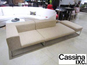 ◇東京都中央区より Cassina ixc カッシーナ ILE sofa イル カウチソファ ファブリック 参考83~123万 ピエロ・リッソーニ 出張買取いたしました。